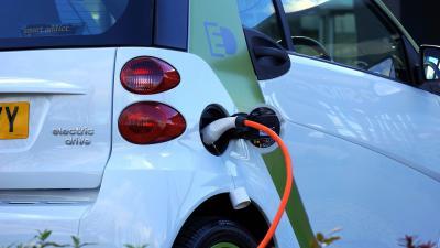Foto van elektrische auto