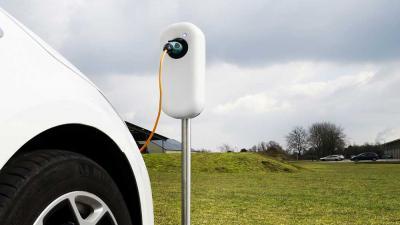 Foto van elektrisch oplaadpaal auto | VNA