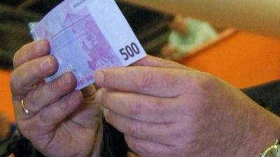 Foto van 500,- euro biljet | Archief EHF
