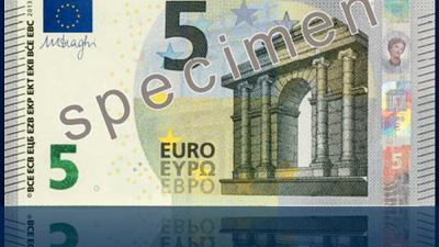 Foto van nieuw vijf euro biljet | DNB