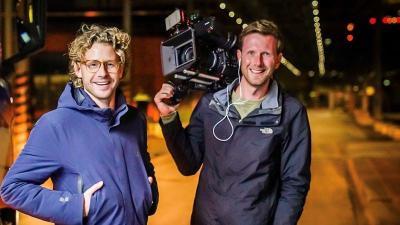 Ewout Fenemans en cameraman Julian