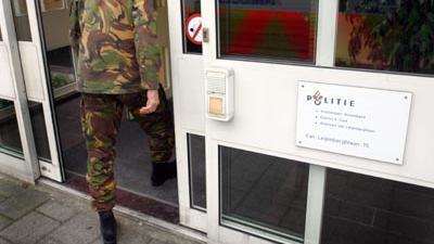 Foto van EOD bij politiebureau | Archief EHF