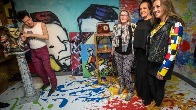 "Familie Herman Brood opent ""I AM ART"" in Madame Tussauds Amsterdam"