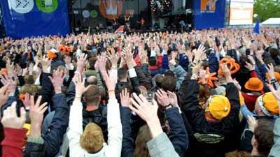 Foto van koninginnedag Amsterdam | Archief EHF