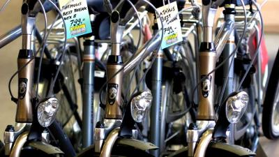 Foto van fietsen in winkel | Archief EHF