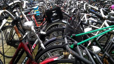 Foto van fietsen in stalling | Archief EHF