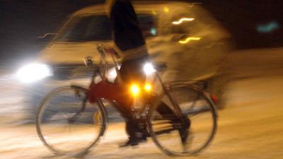 9 op de 10 stedelijke nachtfietsers heeft slok op