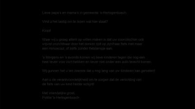 Sterke campagne fietsverlichting politie Den Bosch