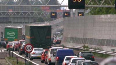 Foto van files op snelweg A13 | Archief EHF