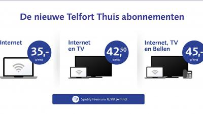 Telfort vernieuwt abonnementen voor thuis