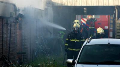 Hennepkwekerij ontdekt na brand in garagebox