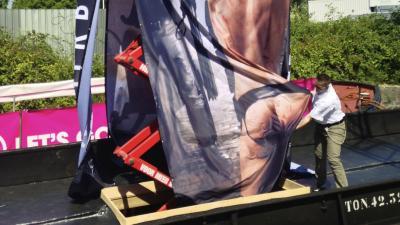 Kijkmiddag versieren boten Amsterdam Gay Pride