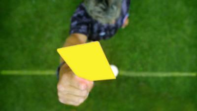 Foto van scheidsrechter met gele kaart | EHF