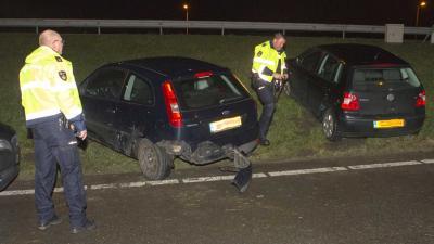 Achtervolging gestolen auto eindigt in crash A20