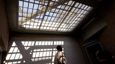 Foto van luchtplaats gevangenis   Archief EHF