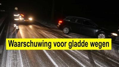 KNMI waarschuwt voor gladde wegen door sneeuw en ijzel