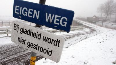 Opnieuw waarschuwing voor gladde wegen