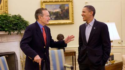 De Amerikaanse oud-president George H. W. Bush overleden