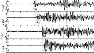 Foto van grafiek uitslag aardbevingen | Archief EHF