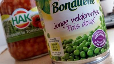 Bijna helft groenteconserven gesuikerd