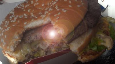 foto van broodje hamburger | fbf