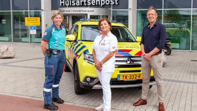 De drie 'typen' hulpverleners die vóór en achter de schermen bij een inzet van de 'Rapid HAG' betrokken zijn