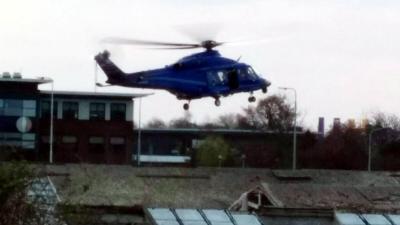 Aalsmeerders opgeschikt door landing grote helikopter in woonwijk