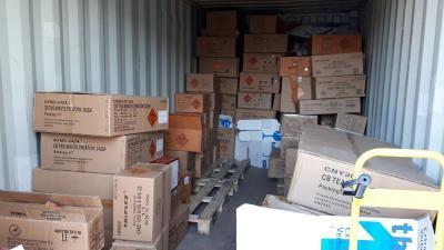 Illegaal vuurwerk in container