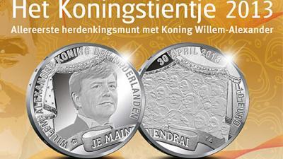Foto van munt met koning Willem | Kon. Ned. Munt | www.knm.nl