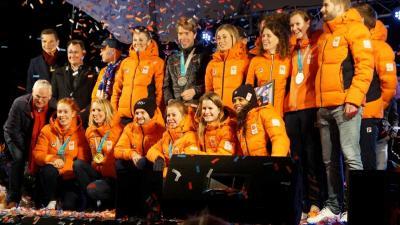 Nederlandse medaillewinnaars gehuldigd