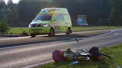 Fietser gewond bij aanrijding in Rolde