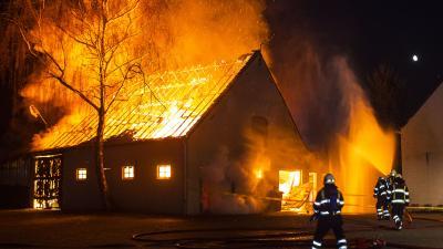 Wederom uitslaande schuurbrand nabij Eetcafé De Oude Ketting in Boxtel