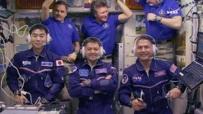 International Space Station van 3 nieuwe astronauten voorzien