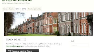 Foot van Johan Willem Friso kazerne | steundekazerne.nl | www.steundekazerne.nl