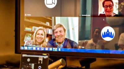 koning-videogesprek-Maastricht UMC+