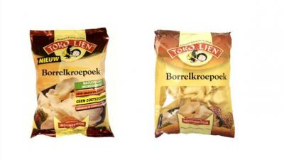 Toko Lien Borrel Kroepoek uit de schappen om gluten