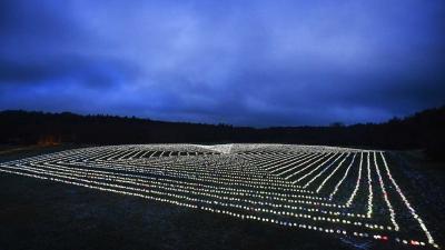 Hart van 11.239 lampionnen verlicht middelpunt van Nederland