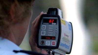 Foto van lasergun controle snelheid politie | Archief EHF