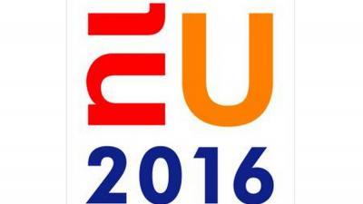 Foto van logo beeldmerk Nederland EU | Studio Dumbar