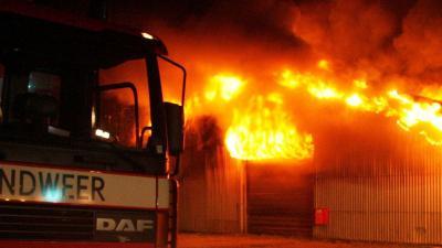 foto van brand in loods   fbf