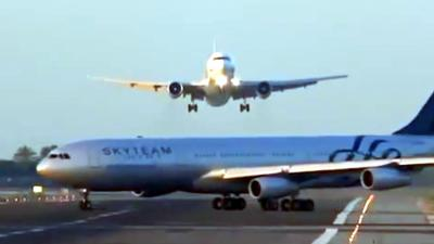 luchtvaart, botsing, vliegtuig