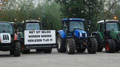 Boeren verzamelen zich in Boxtel