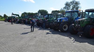 Boeren verzamelen zich
