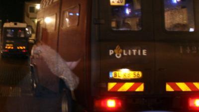 ME-busje betrokken bij ongeval met personenauto op A58.