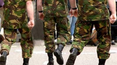 Foto van militairen | Archief EHF