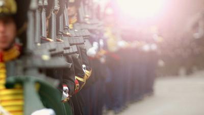 militairen-prinsjesdag-zon