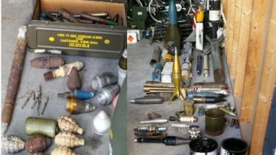 Grote wapen- en munitievondst in Ouddorp