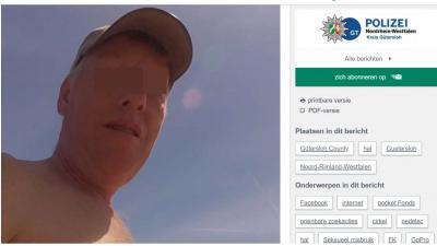 Duitse politie zoekt deze man vanwege kindermisbruik