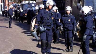 Foto van mobiele eenheid politie | Archief EHF