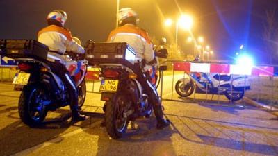 Foto van politie motoren donker zwaailicht | Archief EHF